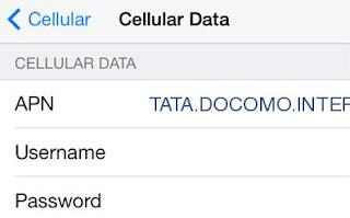 Tata DOCOMO GPRS Settings for iPhone