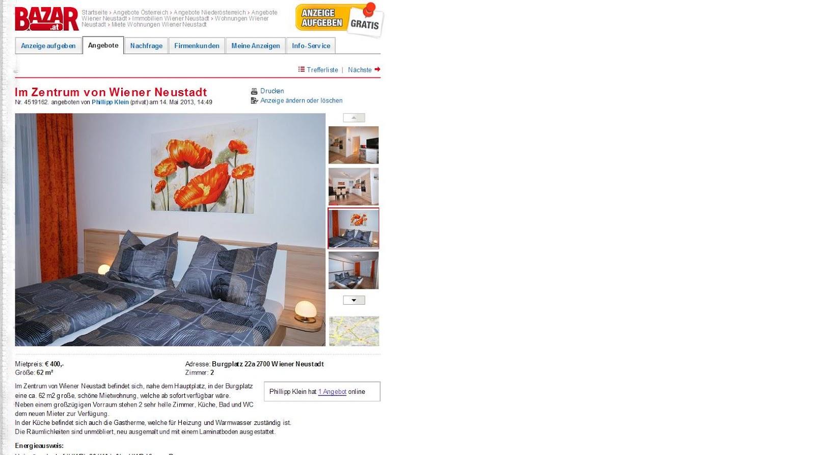 Informationen über Wohnungsbetrug   informations about rental scam ...