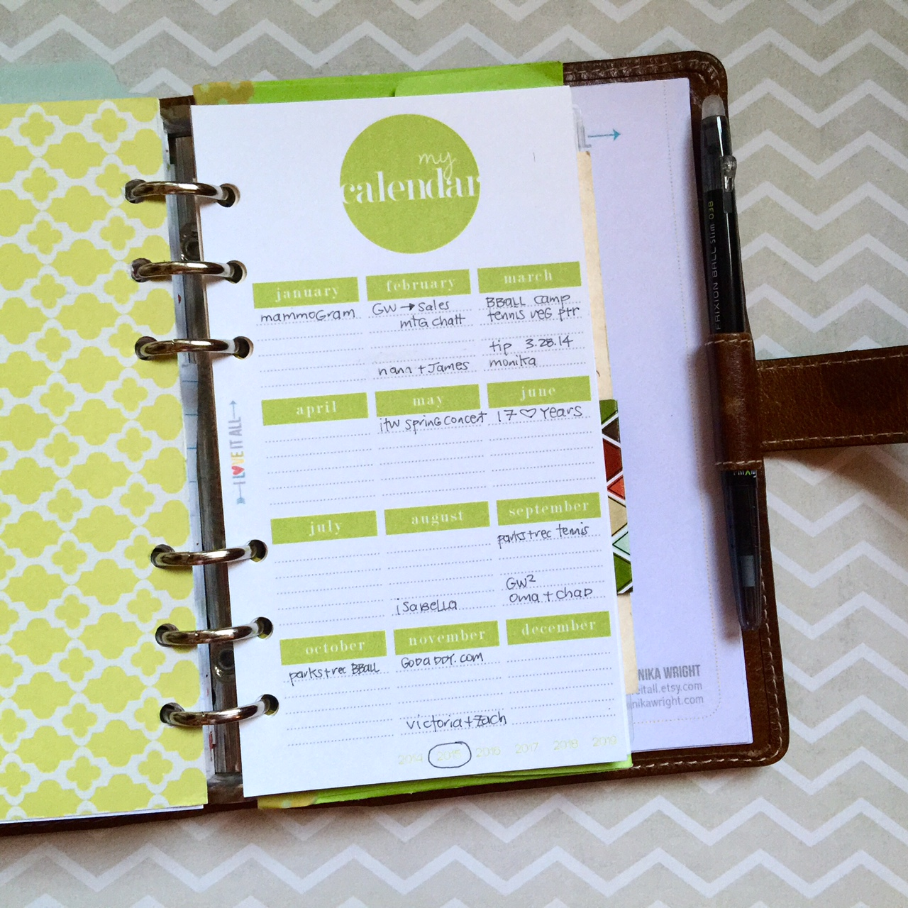 #ochremalden #filofax #printable #organization #planner #lists #calendar