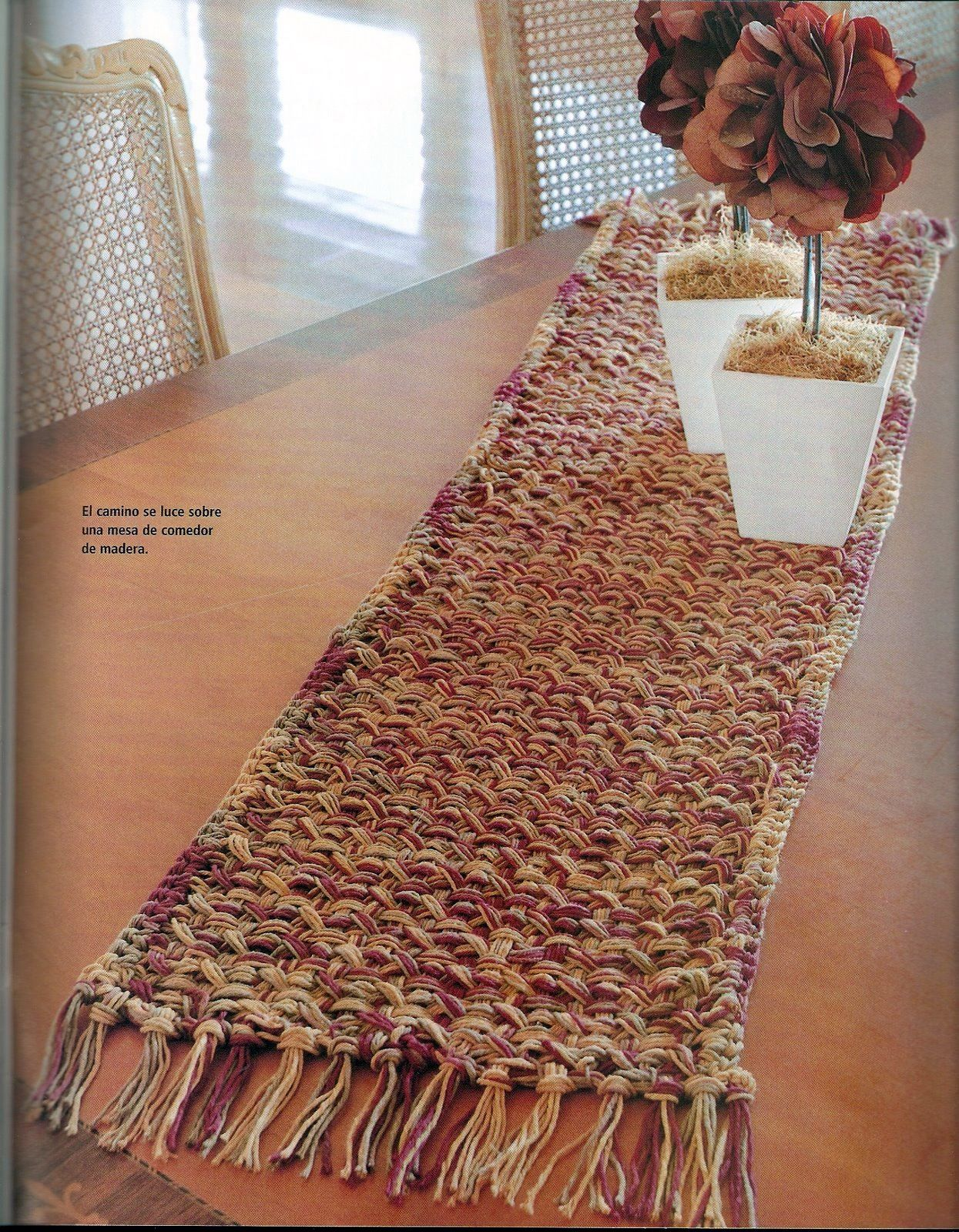 El baul de crochet y telar patrones de blusas en crochet - Manteles para mesa ...