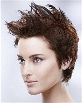 Spiky Short Layered Hairstyle