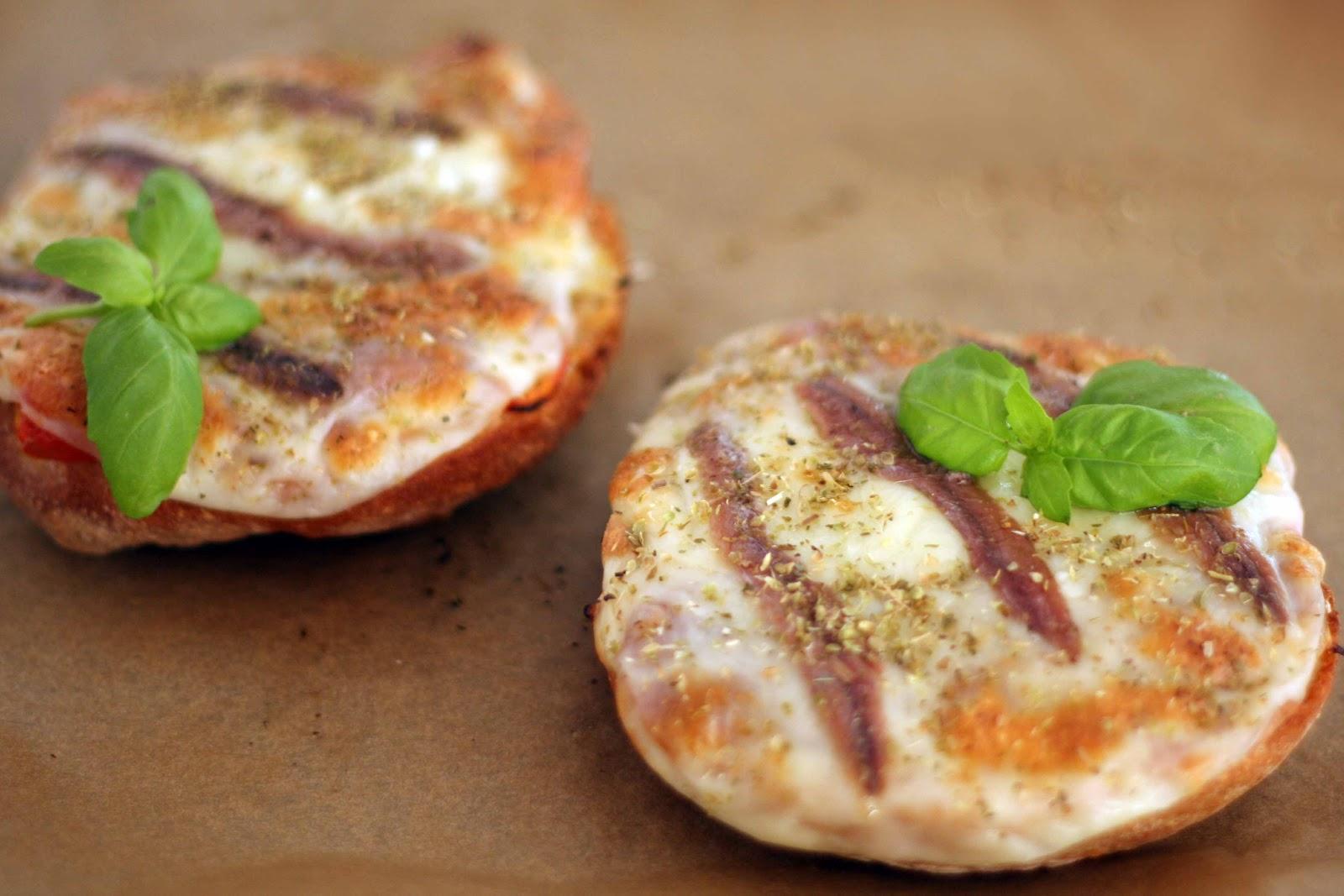 Igloo cooking pan pizza de chapata con champis y anchoas for Cenas rapidas y sencillas para invitados