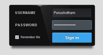 login form using CSS