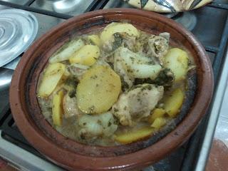 Tajine poulet aux pommes de terre