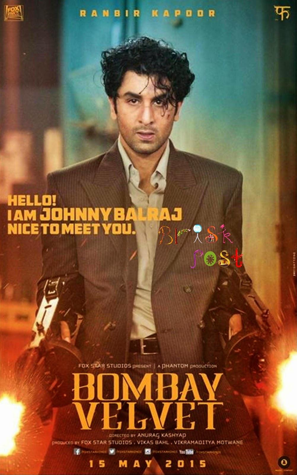 Ranbir Kapoor firing in Bombay Velvet movie poster