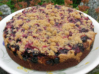 Chocolate Blackcurrant Crumble Cake