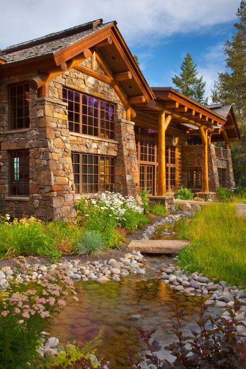 Dream decorators countryside house for Stone creek cabins