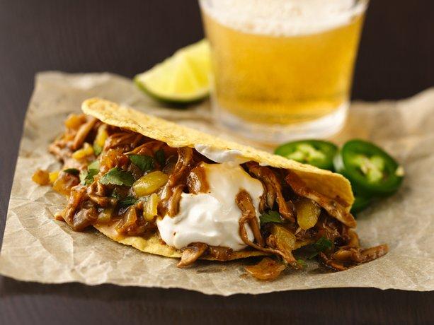 My Favorite Things: Beer-Braised Chicken Tacos