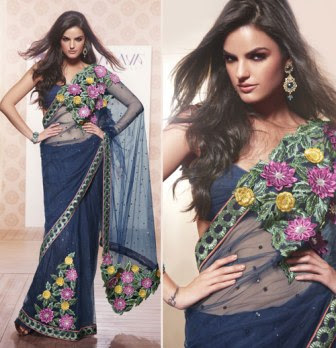 Beautiful-Indian-Net-Sarees-Designs
