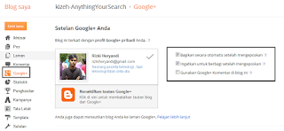 Menu google+ di blogger