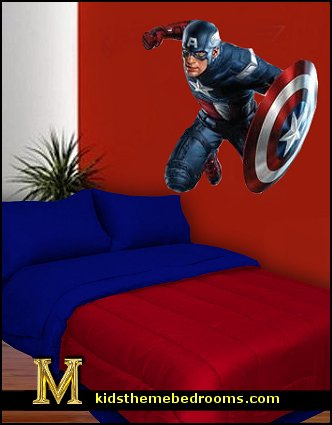 Captain America wall mural decals