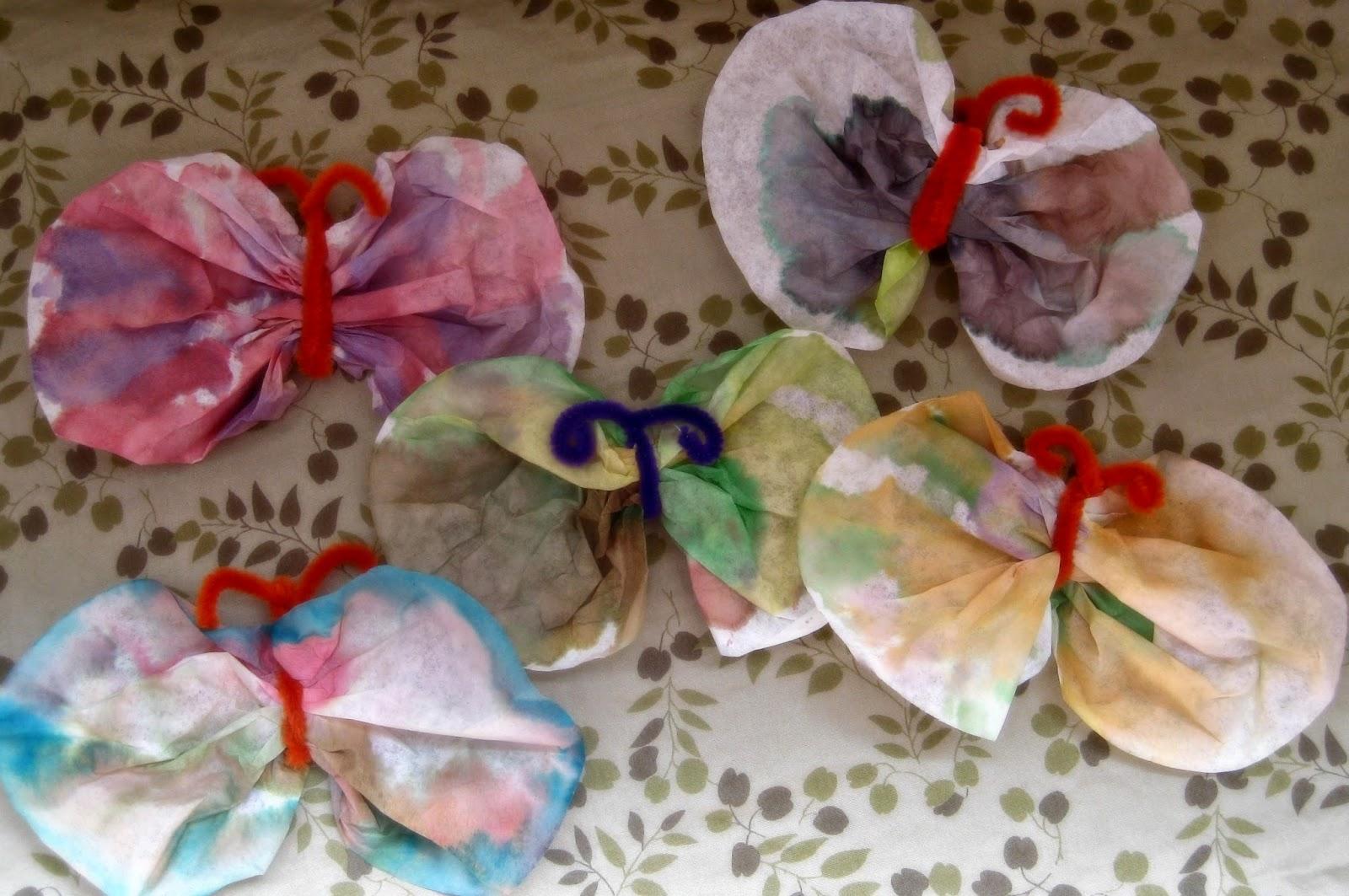 http://lydiashandmadelife.blogspot.com/2014/05/coffee-filter-butterflies.html