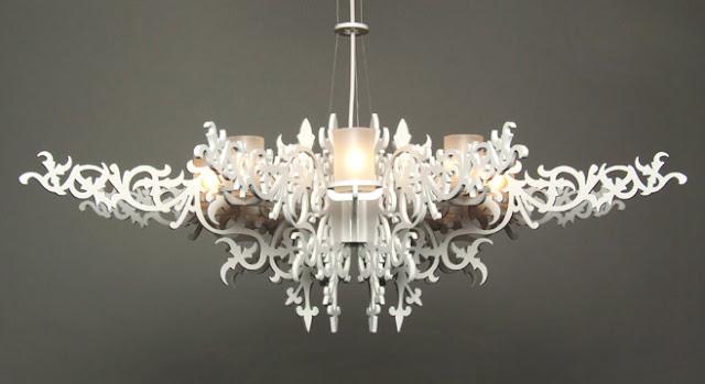 lustre design blanc