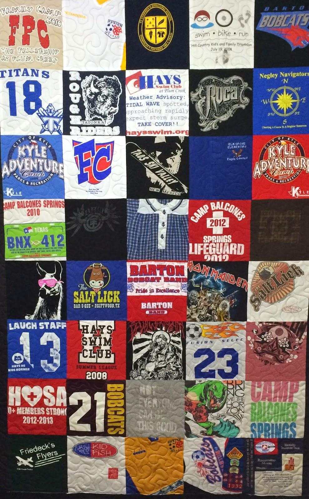 Wyana Eddleman T-Shirt Memory Quilt