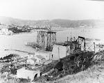 Fotos da construção da ponte Hercílio Luz