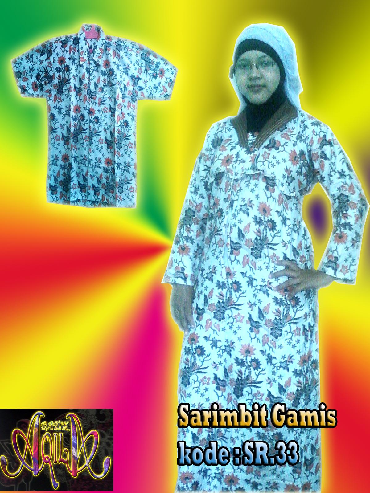 Batik Sarimbit Gamis Batik Seragam Sekolah Kantor Baju