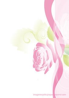 Rosas rosas en folios  Rosas rosas para imprimir