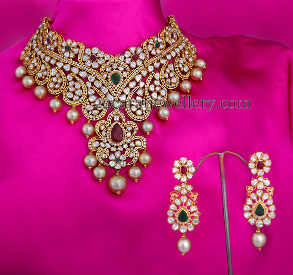 Exclusive Choker by Vasundhara Diamond Roof