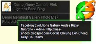 Cara Modifikasi Efek Tooltip Widget Popular Post di Blog