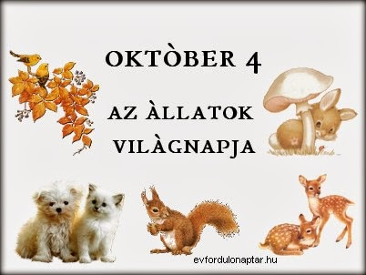 Október 4 - Az állatok világnapja