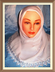 Delicately Star Studded White Hijab with Lavender Highlights