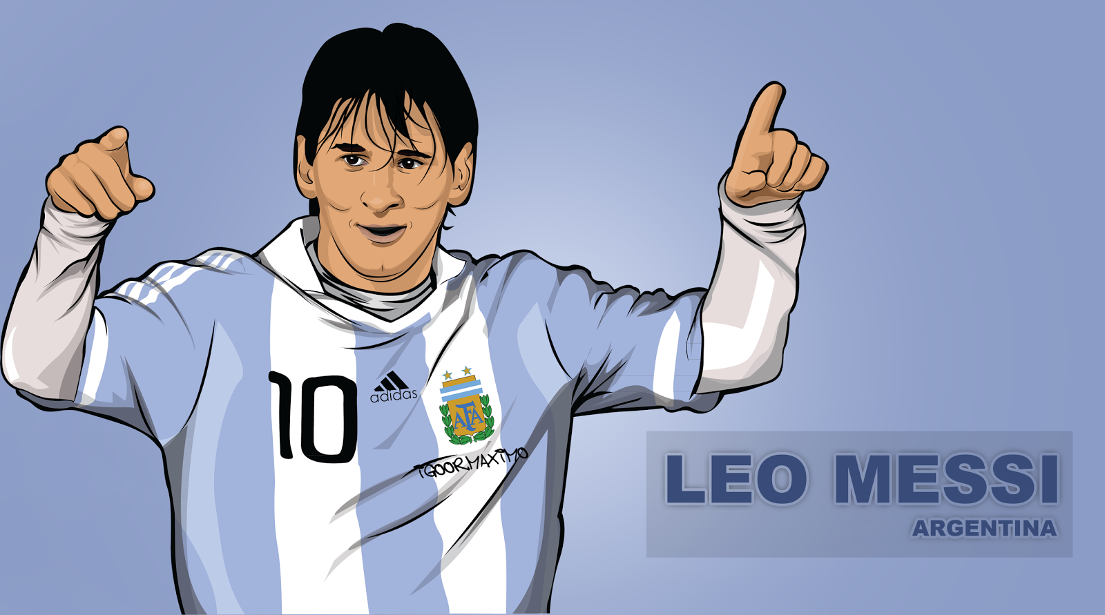 how to draw a soccer player messi