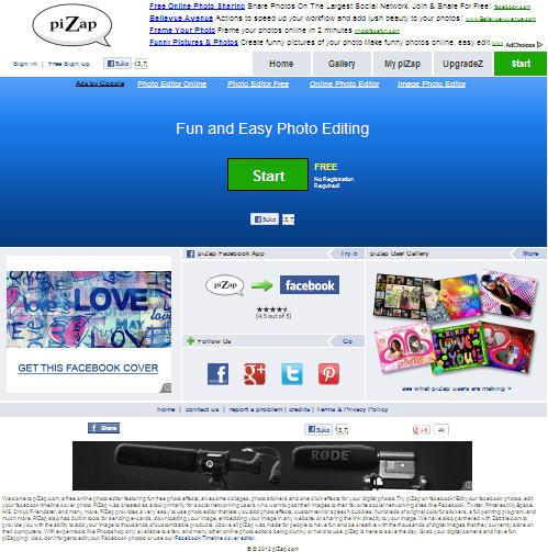homepage pizap