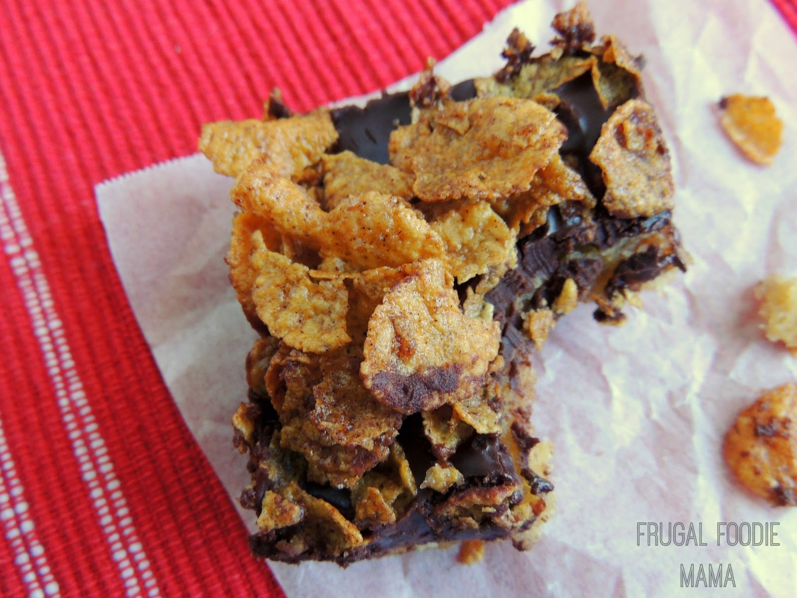 "Mexican ""Fried Ice Cream"" Blondies by Frugal Foodie Mama"