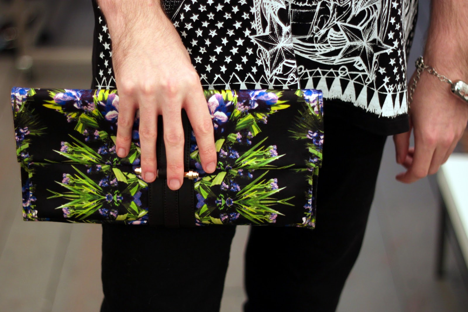 Givenchy clutch bag with floral details for Spring 2012