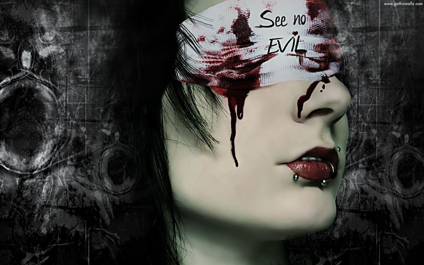 See No Evil | Gothic Wallpaper Download