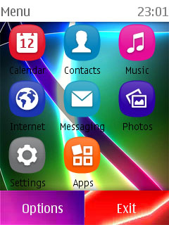 NOKIA themes For S40 Series Mobile phones: colorsfull theme