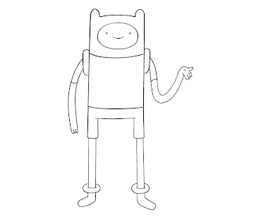#13 Finn Coloring Page