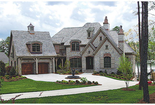 Brick laminate picture brick home plans for Exterior home design stone