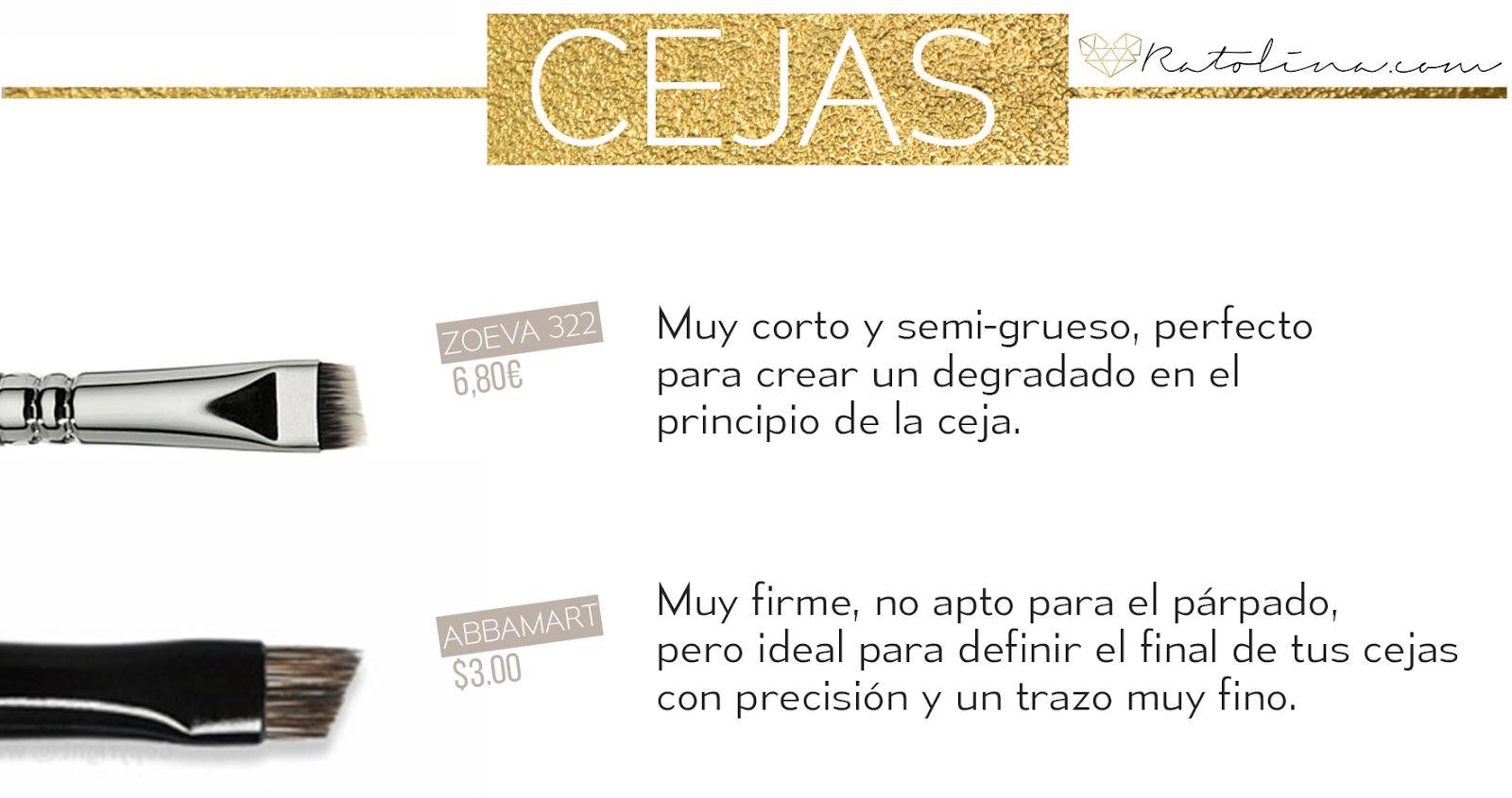 Pinceles cejas low cost