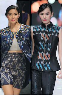 Foto Model Busana Trend Fashion 2014 Motif Geometris