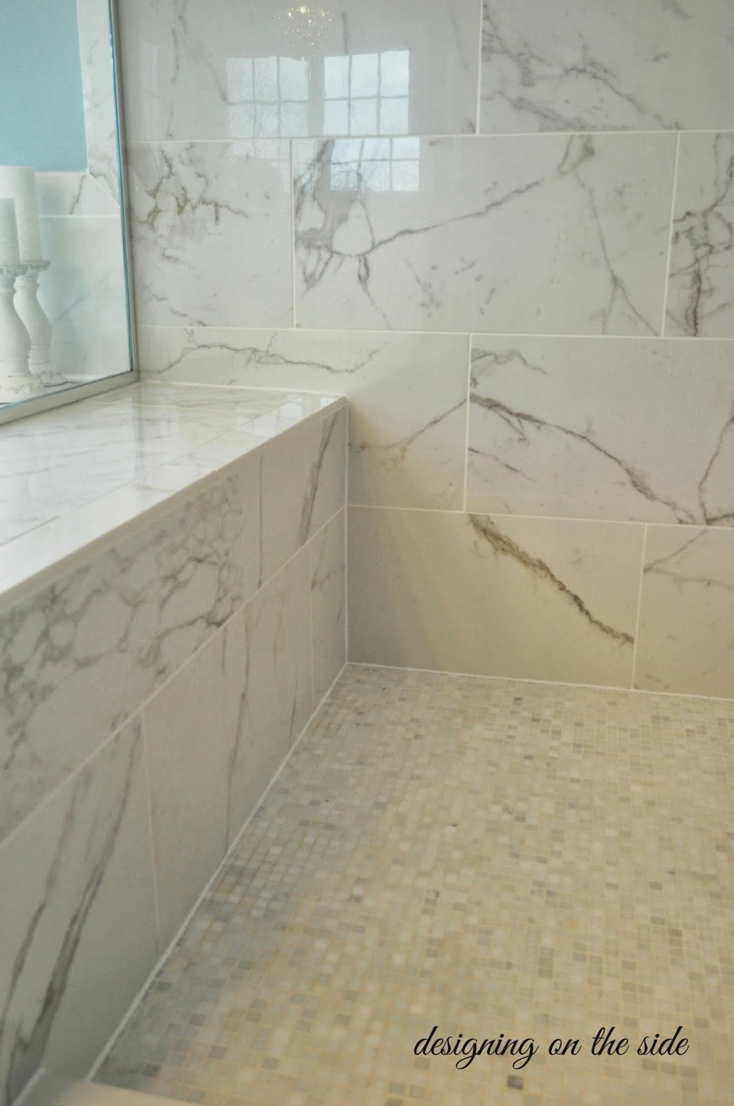 Designing on the side master bath reveal Bathroom tile showers