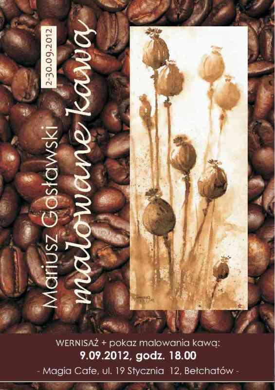 malowane kawą
