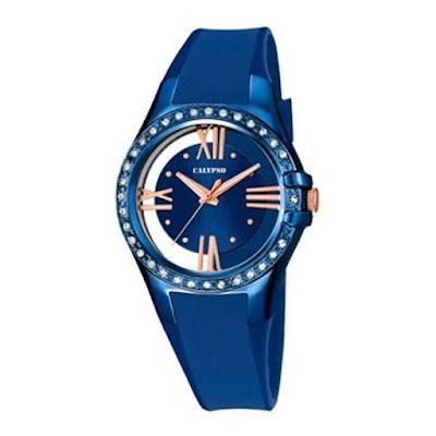 Reloj azul de Calypso