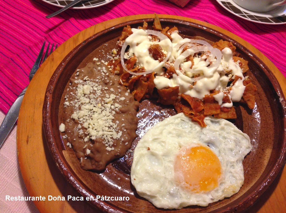 Traditional Mexican Breakfast at Doña Paca Restaurant in Patzcuaro