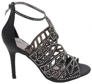 Sandalias negras con strass para fiesta