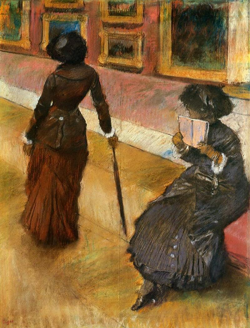 Edgar Degas - Marie Cassatt in the Louvre, 1880