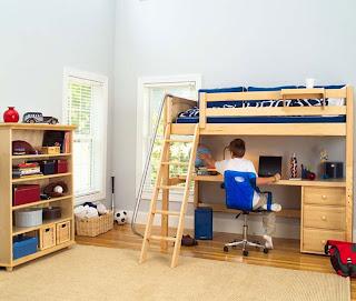 koleksi furniture minimalis kamar tidur anak laki-laki dengan desain modern