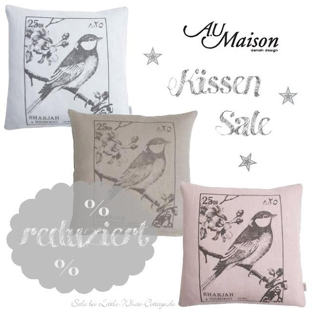 Little white cottage au maison kissen reduziert for Au maison kissen