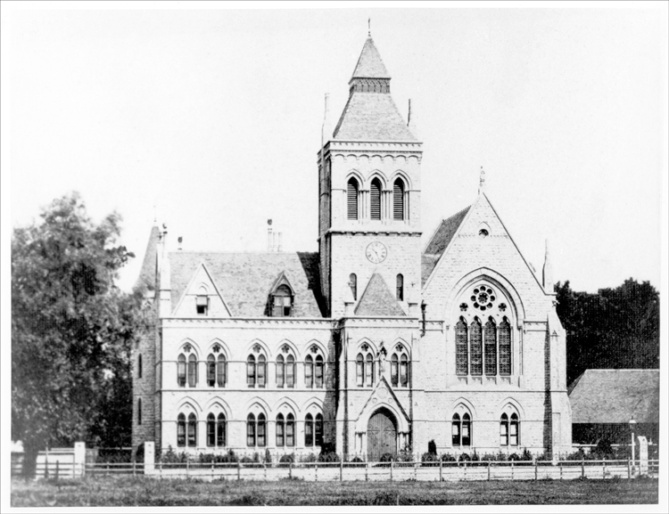 The older Lewisham Town Hall designed in a Gothic Revival style by the