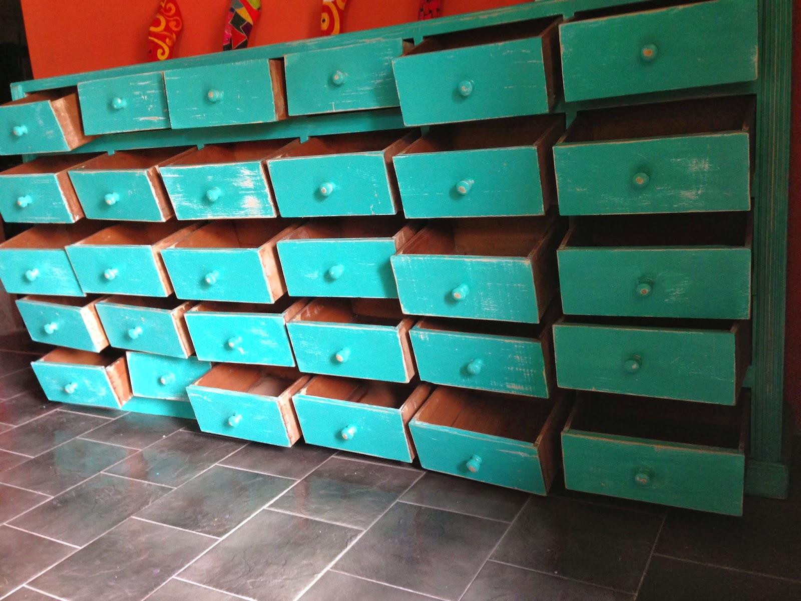 Vintouch muebles reciclados pintados a mano cajones Muebles antiguos pintados a mano