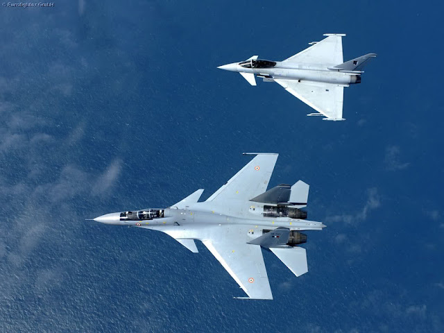 Su-30MKI Flanker and Eurofighter Typhoon
