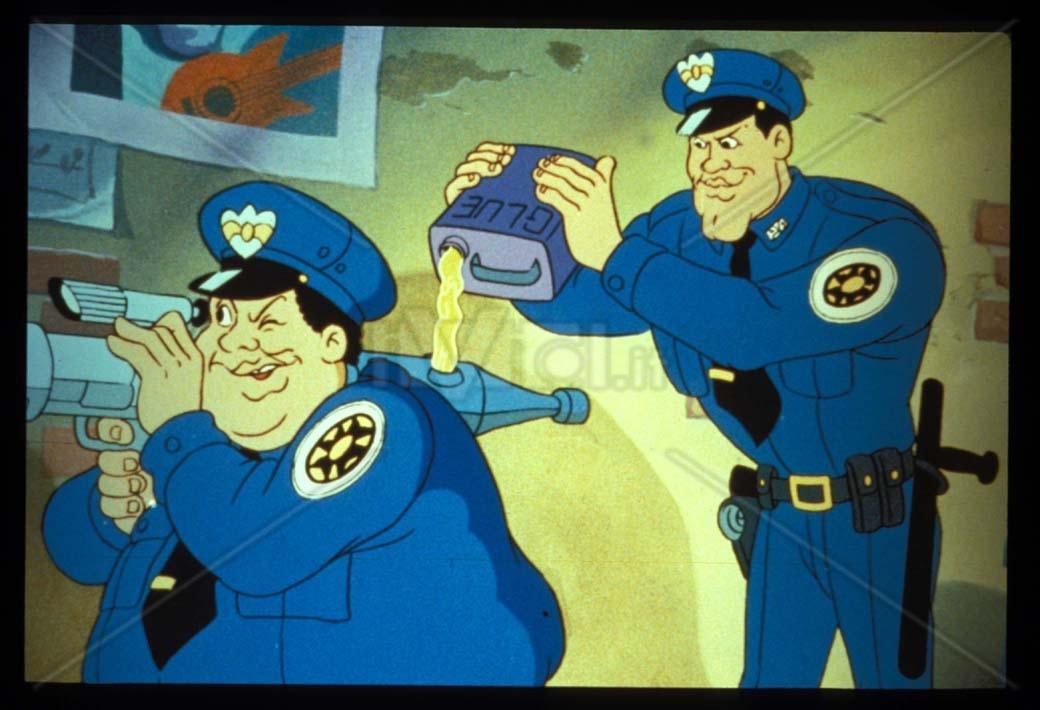 I cartoni degli anni scuola di polizia