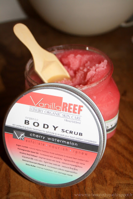 vanilla reef cherry watermelon body scrub