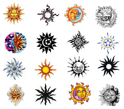 If you are looking for sun tattoos you have chosen a diversified design