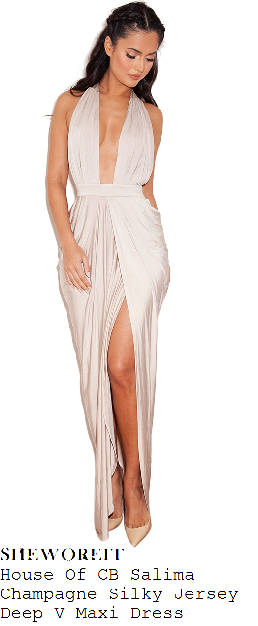 rumer-willis-champagne-taupe-sleeveless-plunge-front-sleeveless-maxi-dress